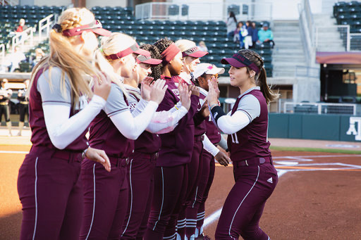during the game between the Texas A&M Aggies and the Weatherford College Coyotes